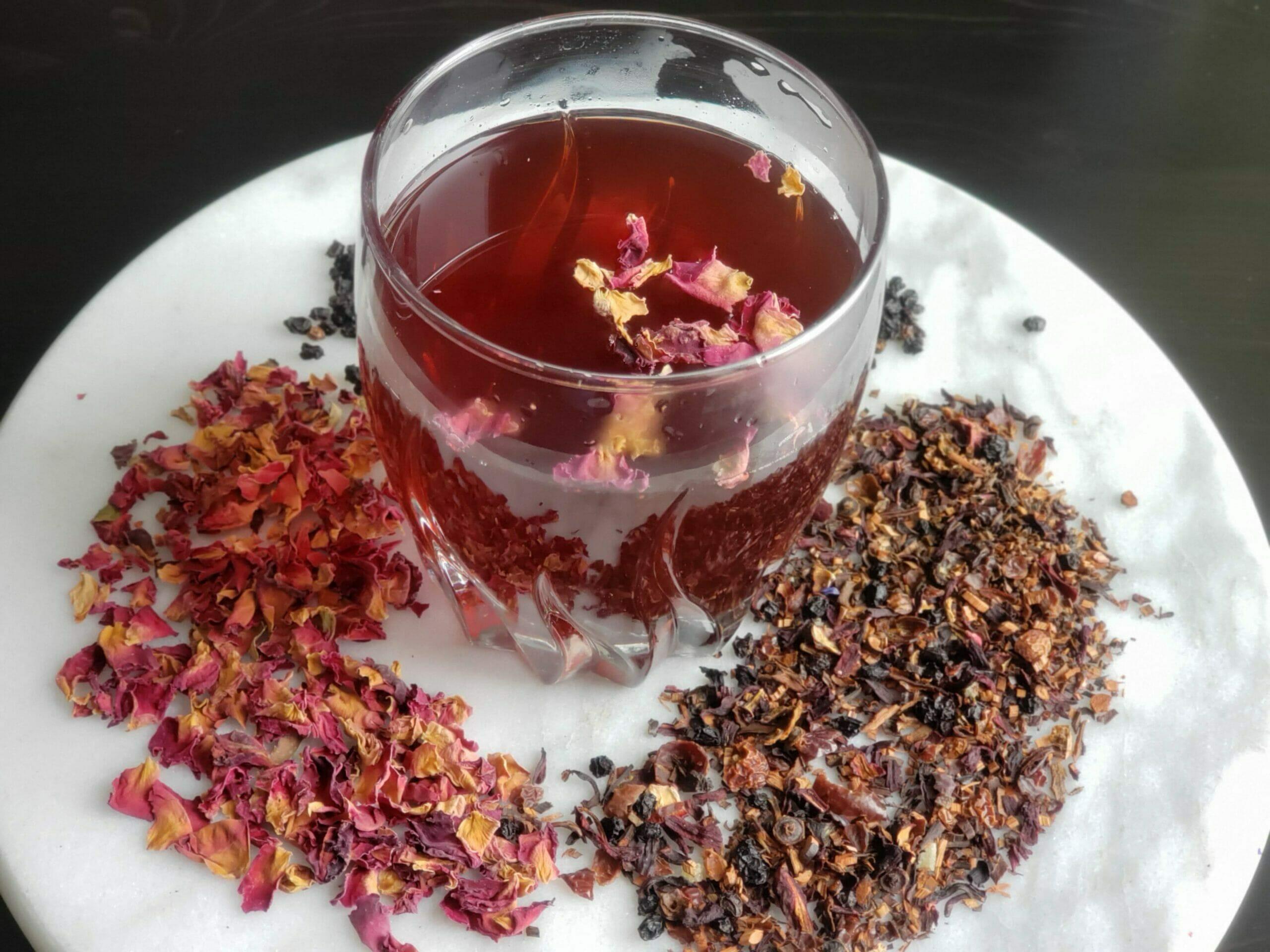 Hibiscus and Rose Tea
