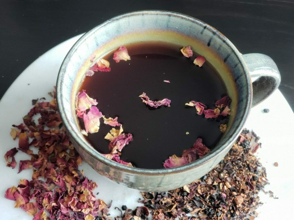 Hibiscus and Rose Tea Green Cup